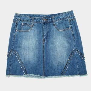 Stetson Western Style Studded Denim Mini Skirt 12